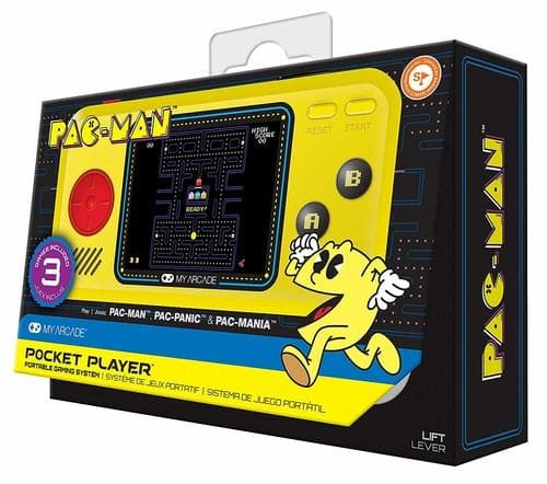 My Arcade Pac-Man Pocket Player - Collectible Handheld Game Console with 3 Games - FLJ CORPORATIONS