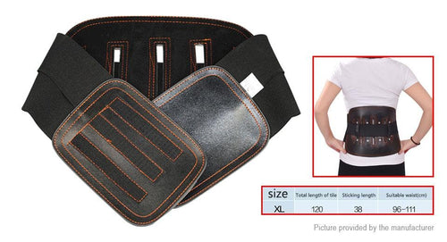 Leather Lumbar Back Support Belt Spine Correction Brace (Size XL) - FLJ CORPORATIONS