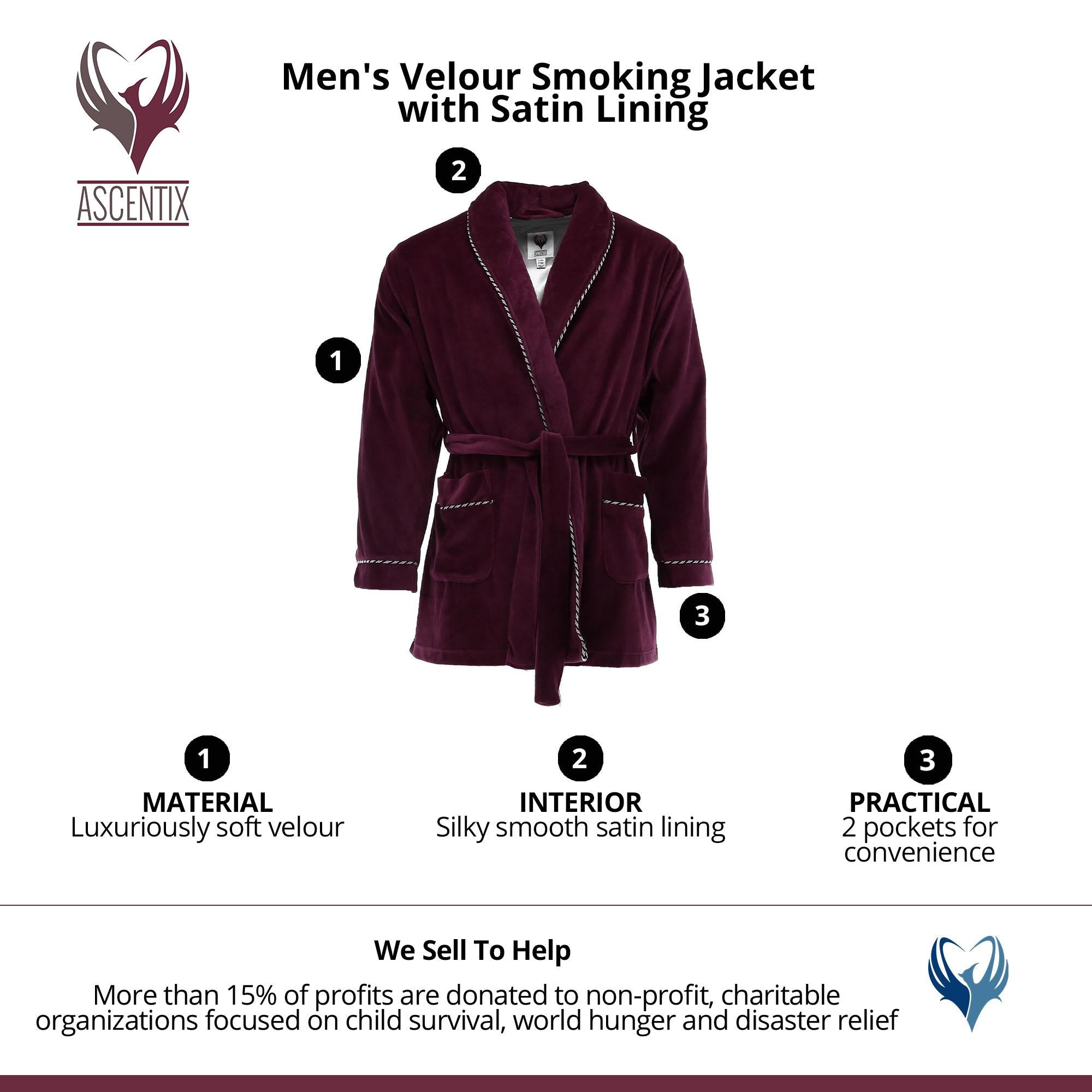 Velour Smoking Jacket - FLJ CORPORATIONS