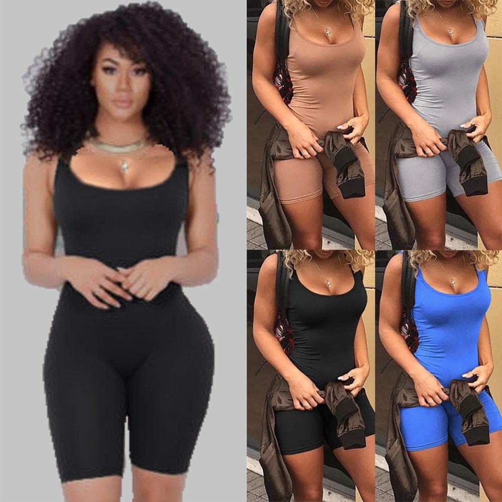Casual Sleeveless Bodycon Romper - FLJ CORPORATIONS