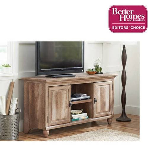 "Better Homes & Gardens Crossmill Collection TV Stand & Console Cabinet for TVs up to 65"", Weathered Finish - FLJ CORPORATIONS"