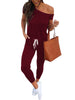 Image of Waist Beam Foot Jumpsuit - FLJ CORPORATIONS