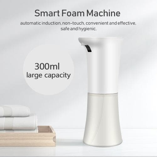 300ml Fully Automatic Foam Soap Dispenser Desktop Induction Soap Dispensers Intelligent Foam Machines with Touching Button - FLJ CORPORATIONS