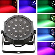 18-LED Red & Green & Blue Light Voice Control Parcan Projector Lamp with Remote Controller Black - FLJ CORPORATIONS