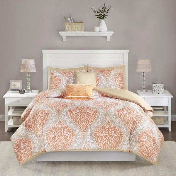 Intelligent Design Sabrina Comforter Set - Orange - Twin - Twin XL - FLJ CORPORATIONS