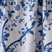 Laura Ashley Charlotte Blue Floral Shower Curtain (72 x 72) - FLJ CORPORATIONS
