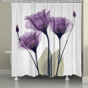 Laural Home X-Ray Lavender Floral 71 x 72-inch Shower Curtain - FLJ CORPORATIONS