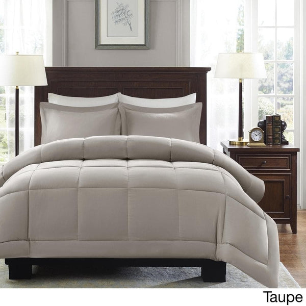 Madison Park Belford Microcell Down Alternative Comforter Set - Grey - Twin - FLJ CORPORATIONS
