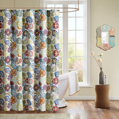 The Curated Nomad Lyon Microfiber Floral Paisley Shower Curtain - FLJ CORPORATIONS