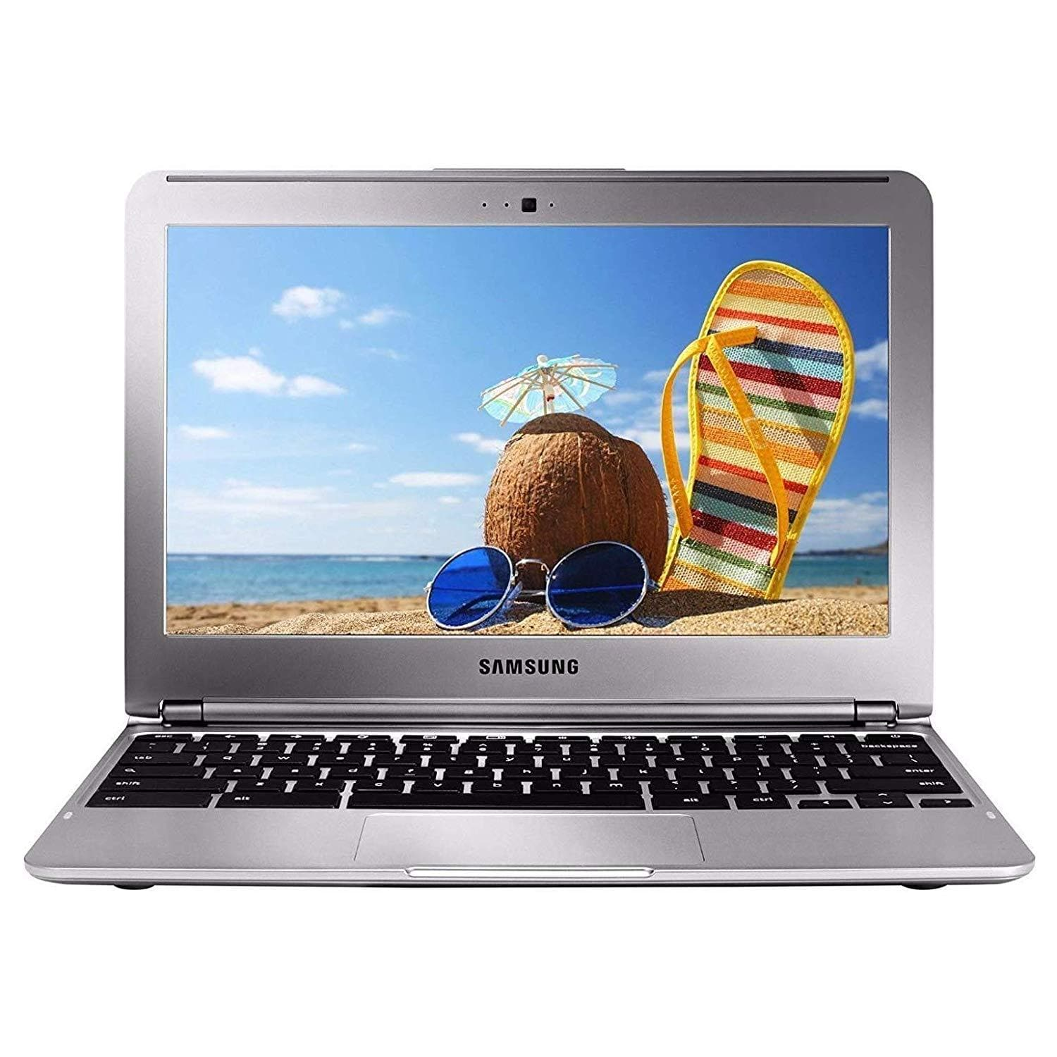 "Samsung Chromebook 11.6"" Laptop PC with Samsung Exynos Dual Core Processor (1.7 GHz), 2GB Memory, 16GB Hard Drive and Chrome OS, XE303C12-A01US, Silver (Pre-Owned) - FLJ CORPORATIONS"