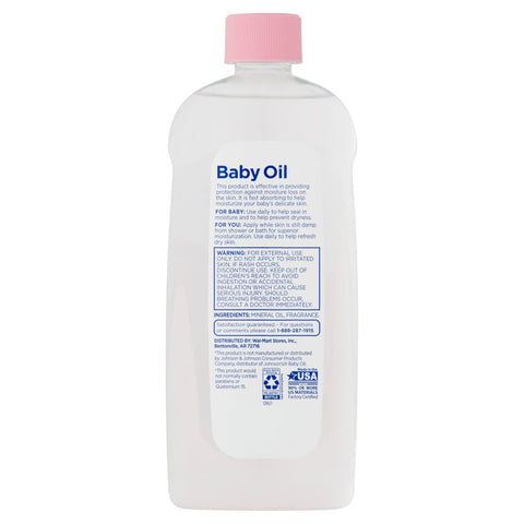 Equate Baby Hypoallergenic Baby Oil, 20 fl oz - FLJ CORPORATIONS