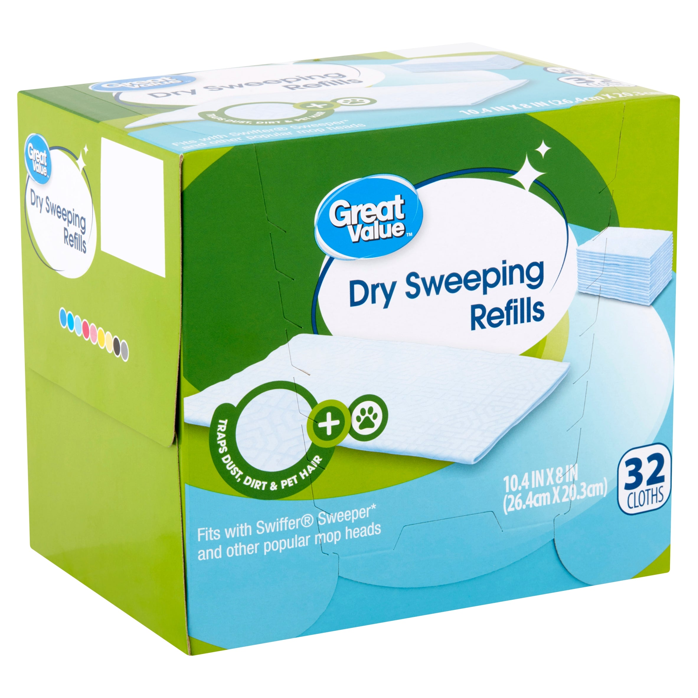 Great Value Dry Sweeping Cloth Refills, 32 Count - FLJ CORPORATIONS
