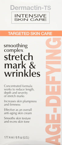 Dermactin-TS Stretch Mark & Wrinkles Smoothing Complex 6 oz. - Improves Skin Texture, Increases Skin Firmness & Plumpness, Reduces Appearance Of Stretch Marks & Wrinkles, Evens Skin Tone - FLJ CORPORATIONS
