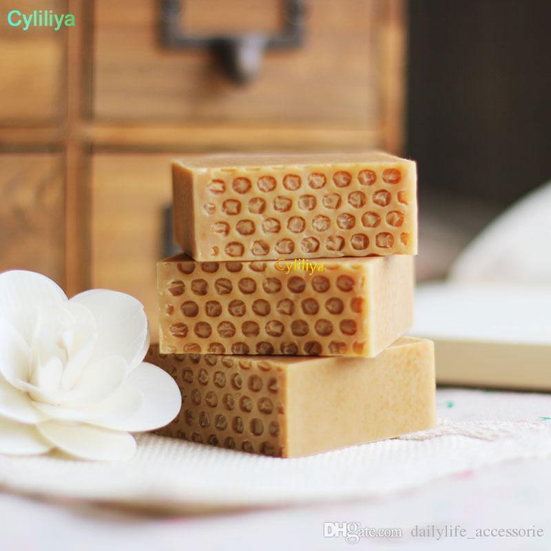 HAND MADE SOAP FOR MOISTURE SOFTENS FACE AND PROTECTS AGAINST THE DRYING EFFECTS OF THE SUN