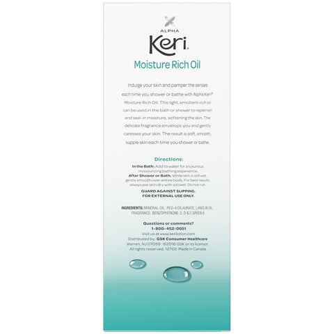 Alpha Keri Shower & Bath Moisture Rich Oil, 16 oz - FLJ CORPORATIONS