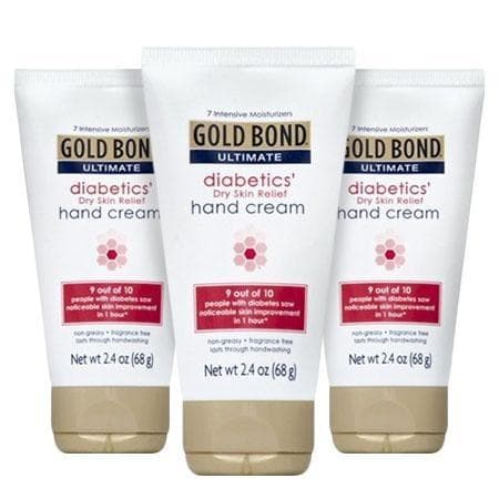 (3 Pack) Gold Bond Ultimate Diabetics Dry Skin Relief Hand Cream, 2.4 oz - FLJ CORPORATIONS