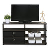 Image of Furinno JAYA Simple Design TV Stand with Bins, Walnut - FLJ CORPORATIONS