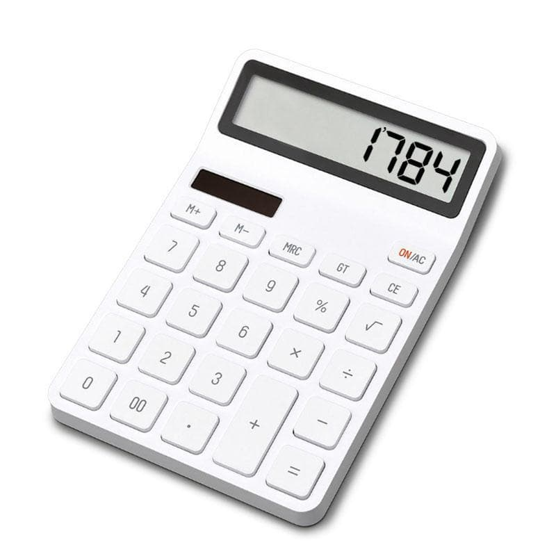 LEMO Desktop Calculator Photoelectric Dual Drive 12 Number Display Automatic Shutdown Calculator For Office Finance From Xiaomi Youpin - White - FLJ CORPORATIONS