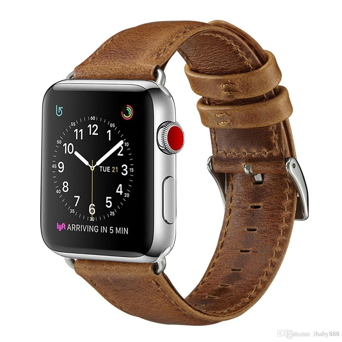 Luxury Business Casual Style Crazy Horse Pattern Genuine Leather Band Strap Belt Bracelet for 44mm 40mm 42mm 38mm Apple Watch 5 4 3 Goophone - FLJ CORPORATIONS