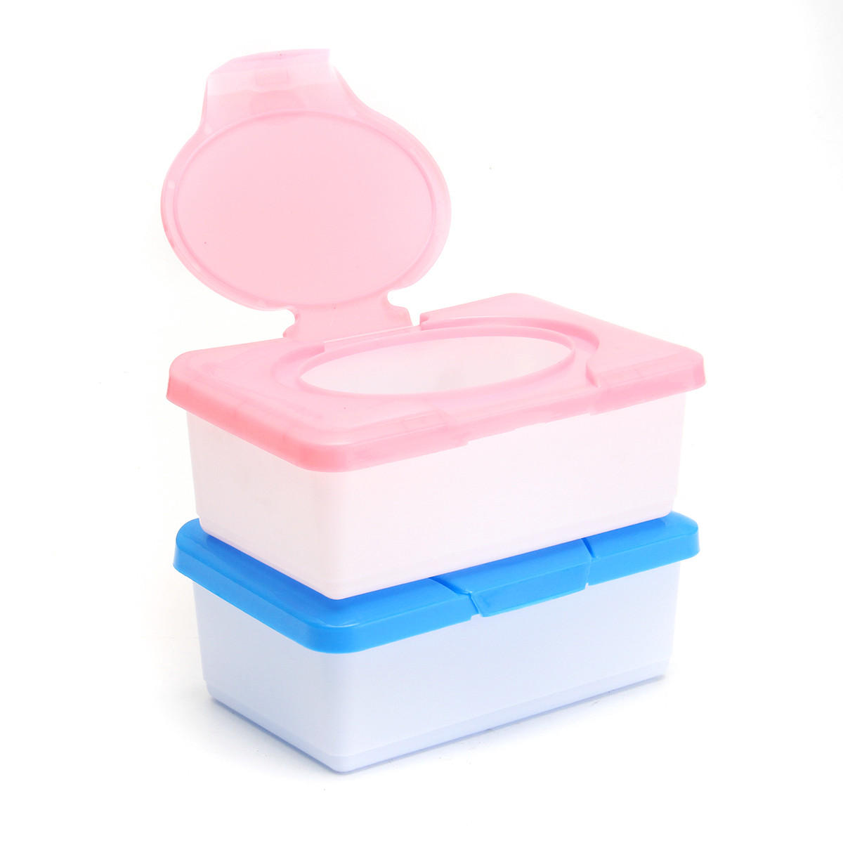 Wet Tissue Box Plastic Case Real Tissue Case Baby Wipes Press Pop-up Design Home Tissue Holder Accessories - Pink - FLJ CORPORATIONS