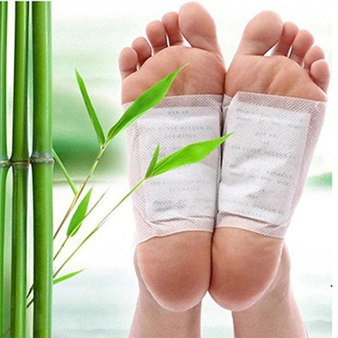 10pcs Pack Kinoki Cleansing Detox Foot Pads Patches with Adhesive - FLJ CORPORATIONS
