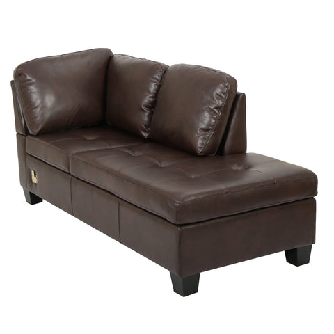 Evan 3 Piece Leather Sectional Sofa