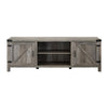 "Image of Manor Park Modern Farmhouse Barn Door TV Stand for TVs up to 78"", Grey Wash - FLJ CORPORATIONS"