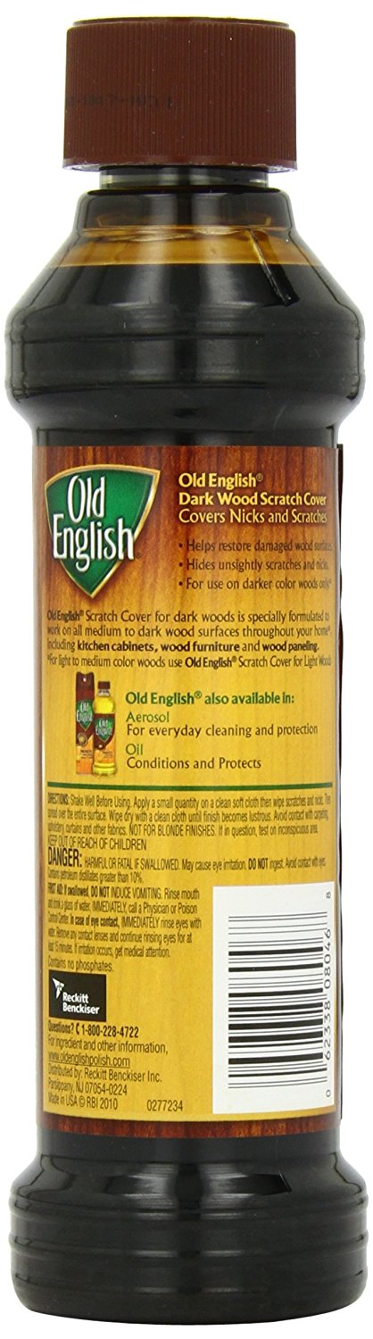 Old English Scratch Cover for Dark Woods, 8oz Bottle, Wood Polish - FLJ CORPORATIONS
