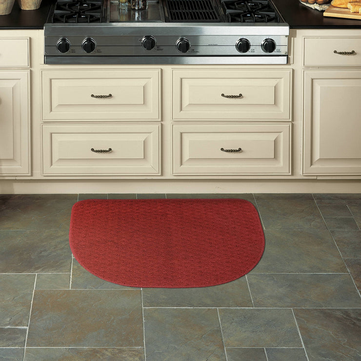 "Mohawk Home Rank & File Slice Kitchen Rug, 18"" x 27"", Red - FLJ CORPORATIONS"