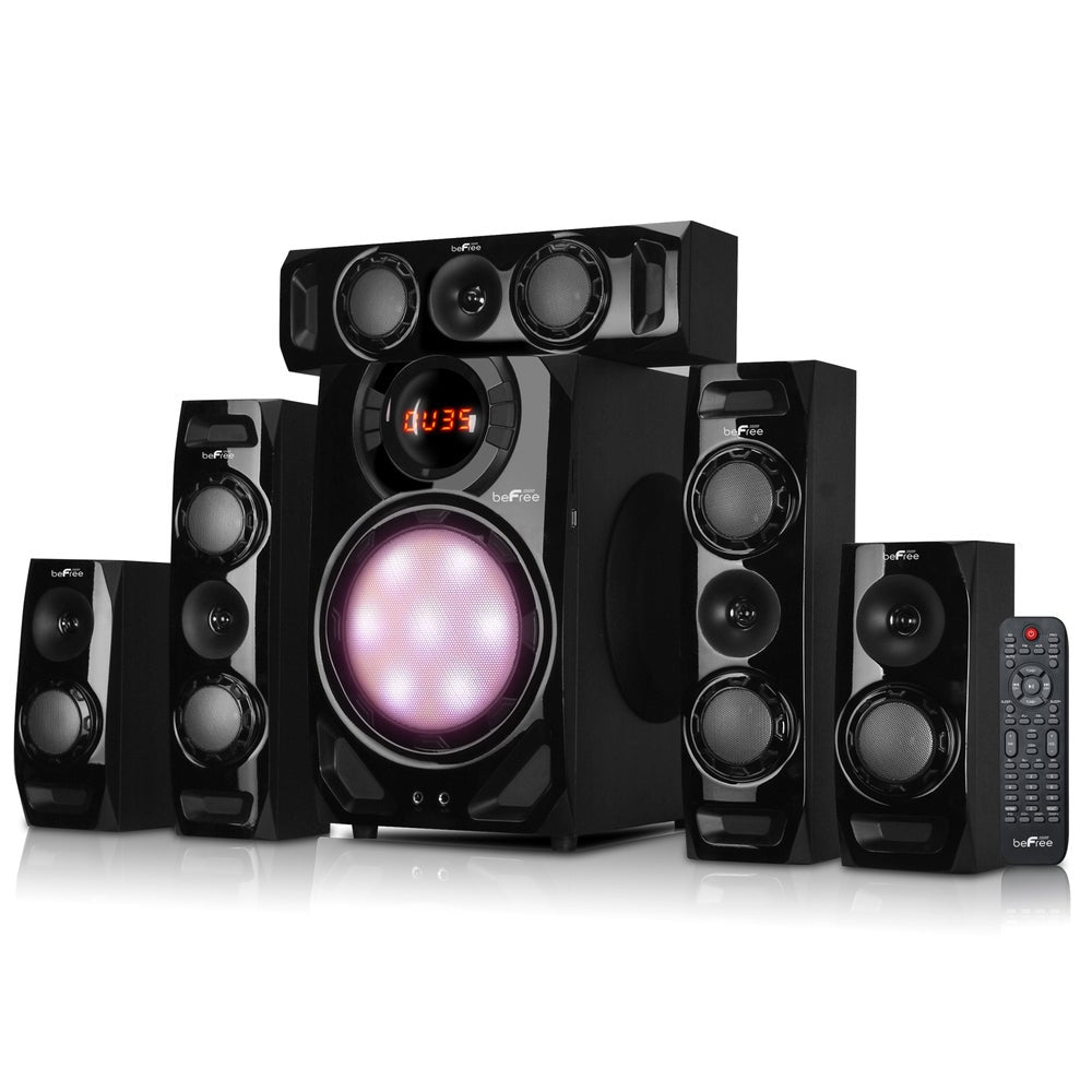 beFree Sound 5.1-channel Surround Sound Bluetooth Black Speaker System - FLJ CORPORATIONS
