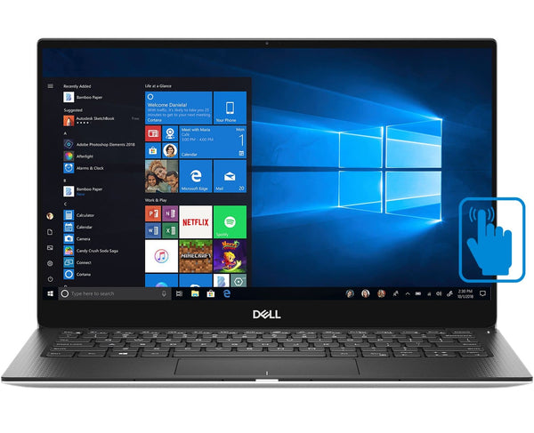 "Dell XPS 13 7390 Home and Business Laptop (Intel i7-1065G7 4-Core, 16GB RAM, 512GB SSD, 13.4"" Touch  1920x1200, Intel Iris Plus, Fingerprint, Wifi, Bluetooth, Webcam, Backlit Keyboard, Win 10"