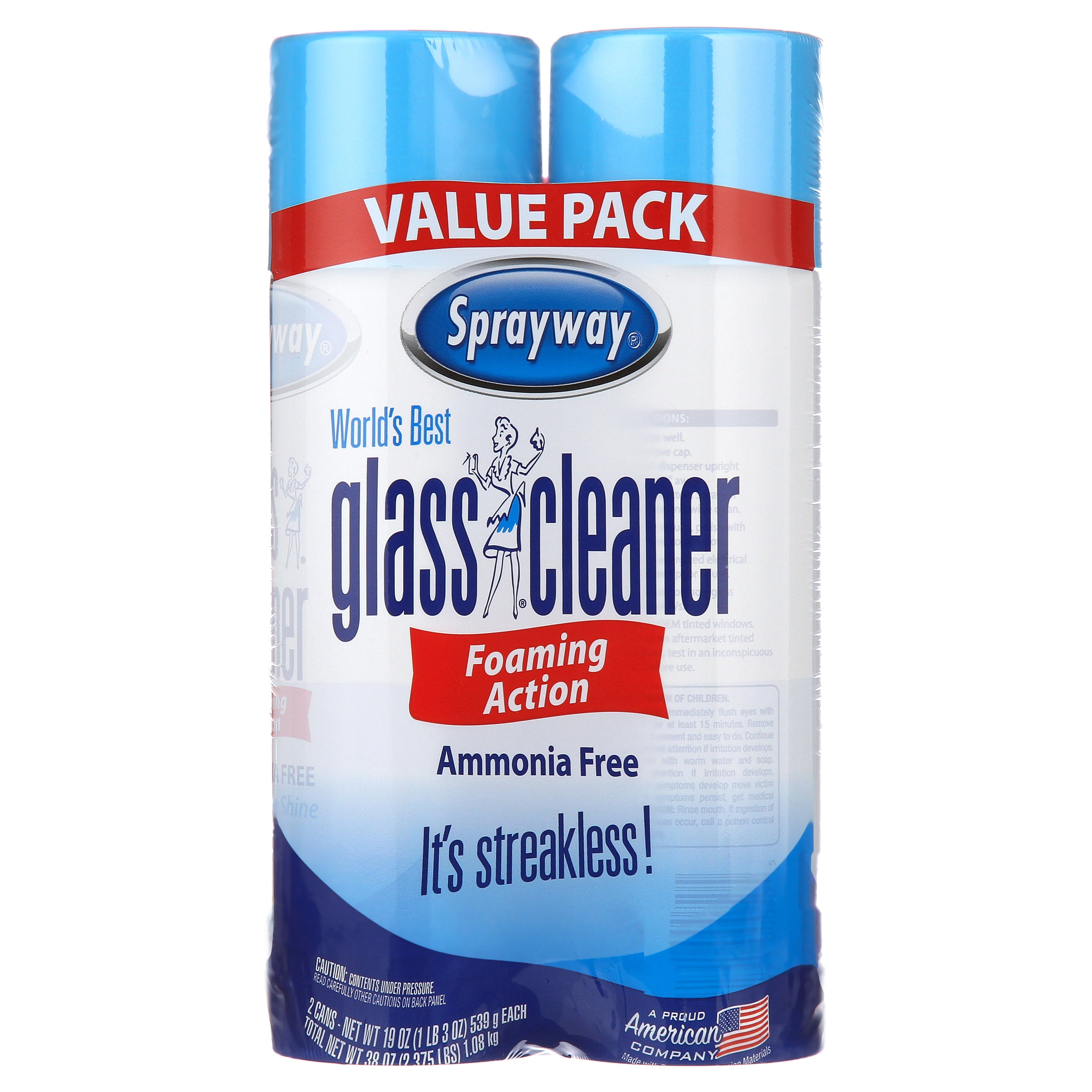 Sprayway World's Best Glass Cleaner, Value Pack, 2x19 OZ - FLJ CORPORATIONS