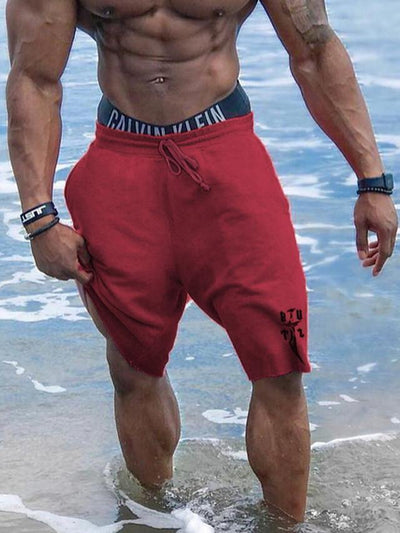 Men's Sporty Loose Shorts Pants Print Black Red Gray US32 / UK32 / EU40 US34 / UK34 / EU42 US36 / UK36 / EU44