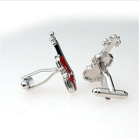 Men's Cufflinks Work Casual Brooch Jewelry Red For