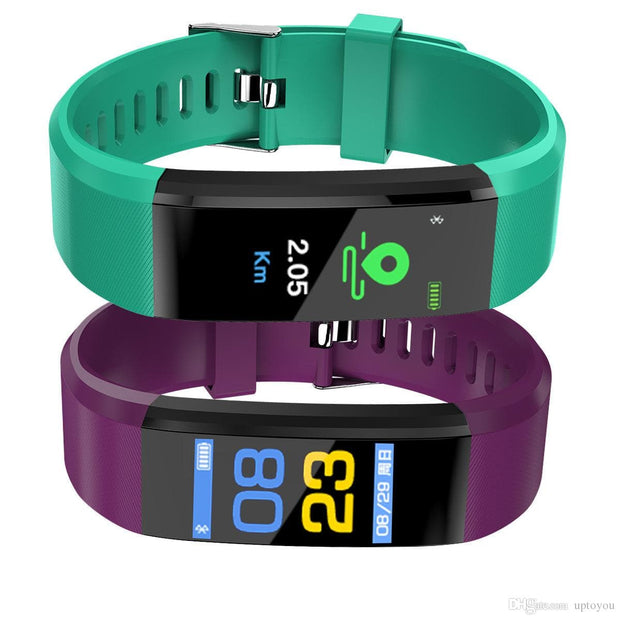 ID115 Plus LCD Screen smart Bracelet Fitness Tracker Pedometer watch Band Heart Rate Blood Pressure Monitor Smart Wristband fitbit - FLJ CORPORATIONS