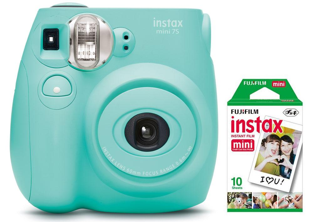 Fujifilm Instax Mini 7S Instant Camera (with 10-pack film) - Seafoam Green - FLJ CORPORATIONS