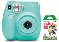 Image of Fujifilm Instax Mini 7S Instant Camera (with 10-pack film) - Seafoam Green