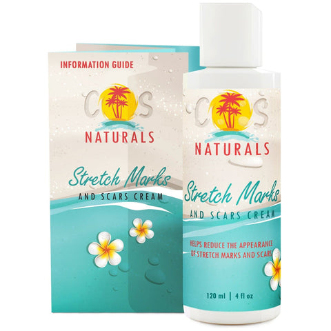 COS Naturals Stretch Marks and Scars Cream Body Lotion with Natural Ingredients Vitamin C Hyaluronic Acid Best for Pregnancy  (4 fl oz / 120 ml) - FLJ CORPORATIONS