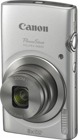 Canon PowerShot ELPH 180 Digital Camera (Silver) - FLJ CORPORATIONS