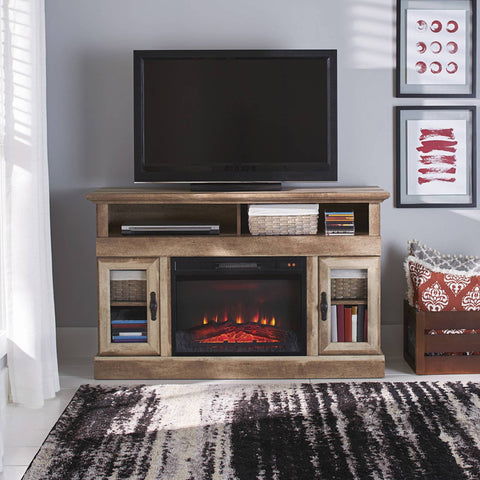 "Better Homes & Gardens Crossmill Fireplace Media Console for TVs up to 60"", Weathered Finish - FLJ CORPORATIONS"