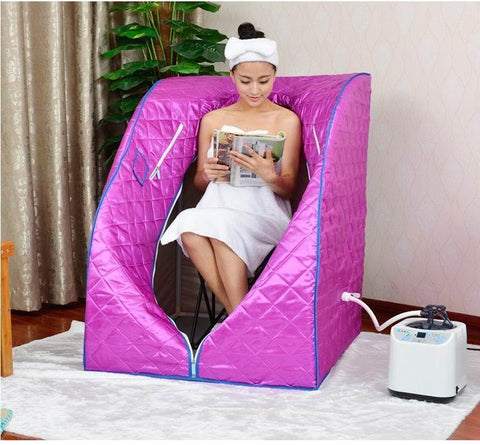 Portable 2L Home Steam Sauna Spa Full Body Slimming Loss Weight Detox Therapy