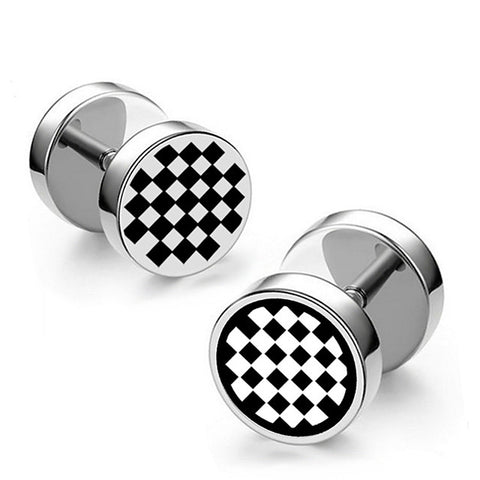 Men's Earrings Classic Mini Earrings Jewelry Black / Silver For Christmas Party Anniversary Carnival Festival 1pc - FLJ CORPORATIONS