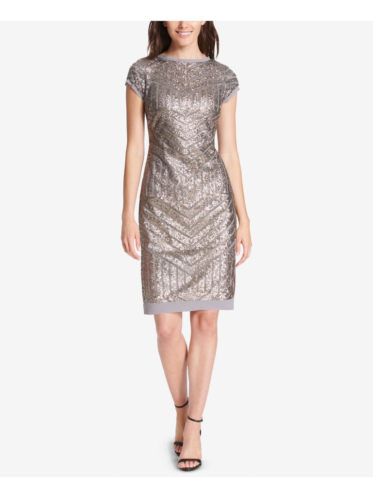 Gray Sequined Short Sleeve - FLJ CORPORATIONS