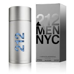 Carolina Herrera 212 Eau De Toilette, Cologne for Men, 3.4 Oz