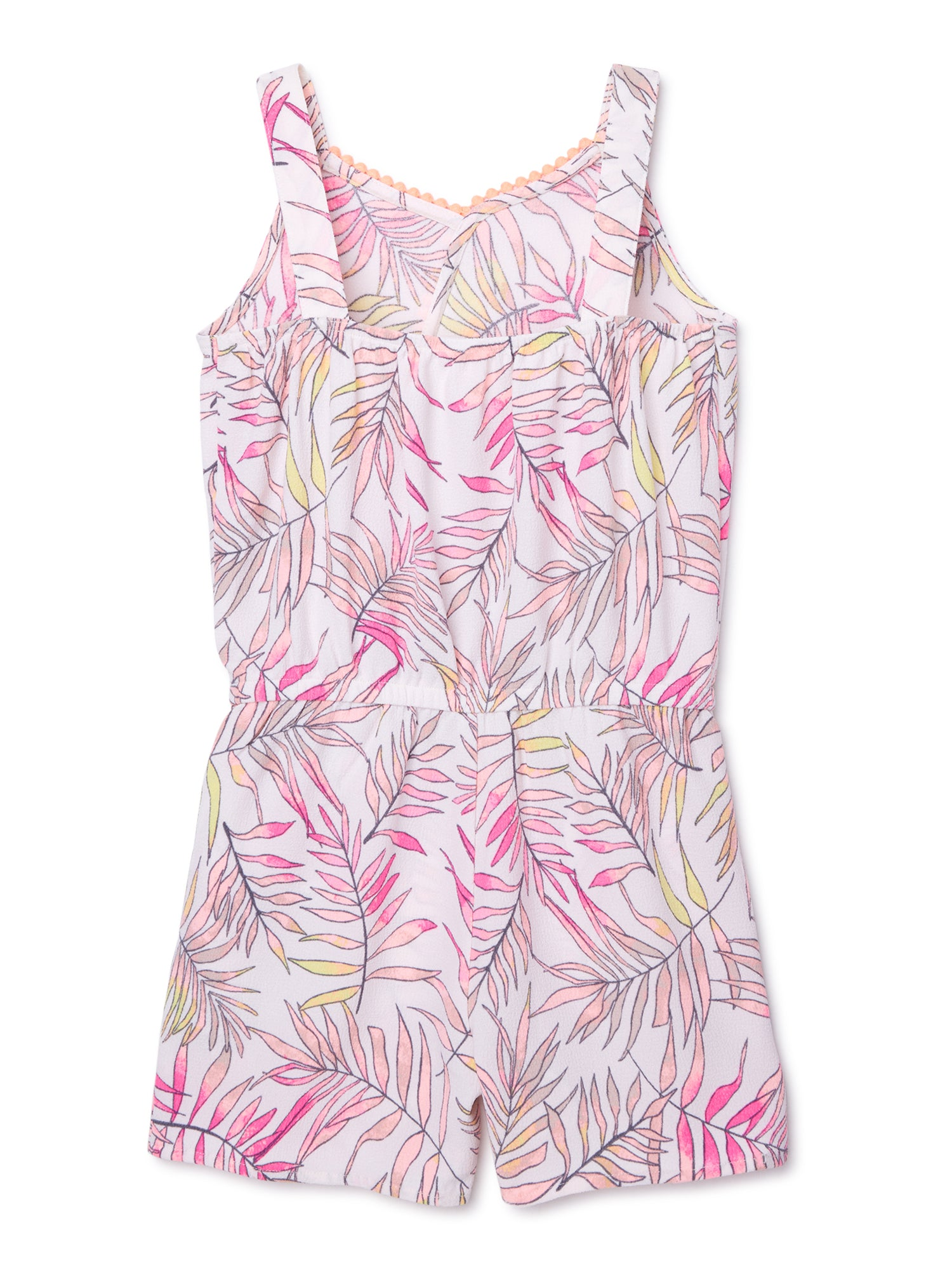Tropical Print Tie-Front Romper - FLJ CORPORATIONS