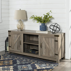 Manor Park Modern Farmhouse Barn Door TV Stand for TVs up to 65