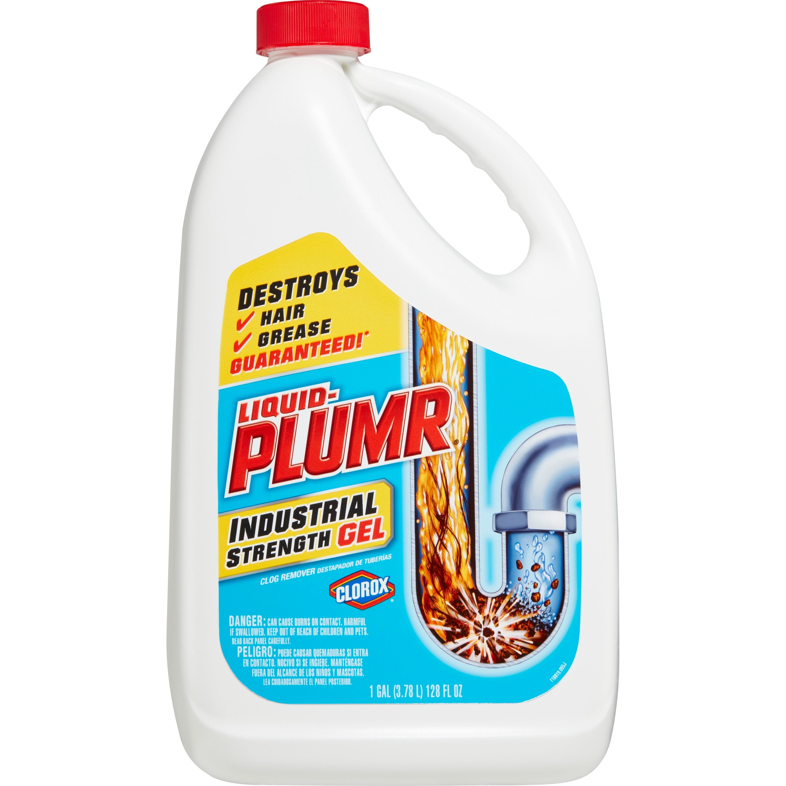 Liquid-Plumr Industrial Strength Gel Drain Cleaner, 128 oz - FLJ CORPORATIONS