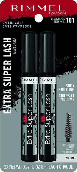 Rimmel Extra Super Lash Mascara 2 pk, Black - FLJ CORPORATIONS