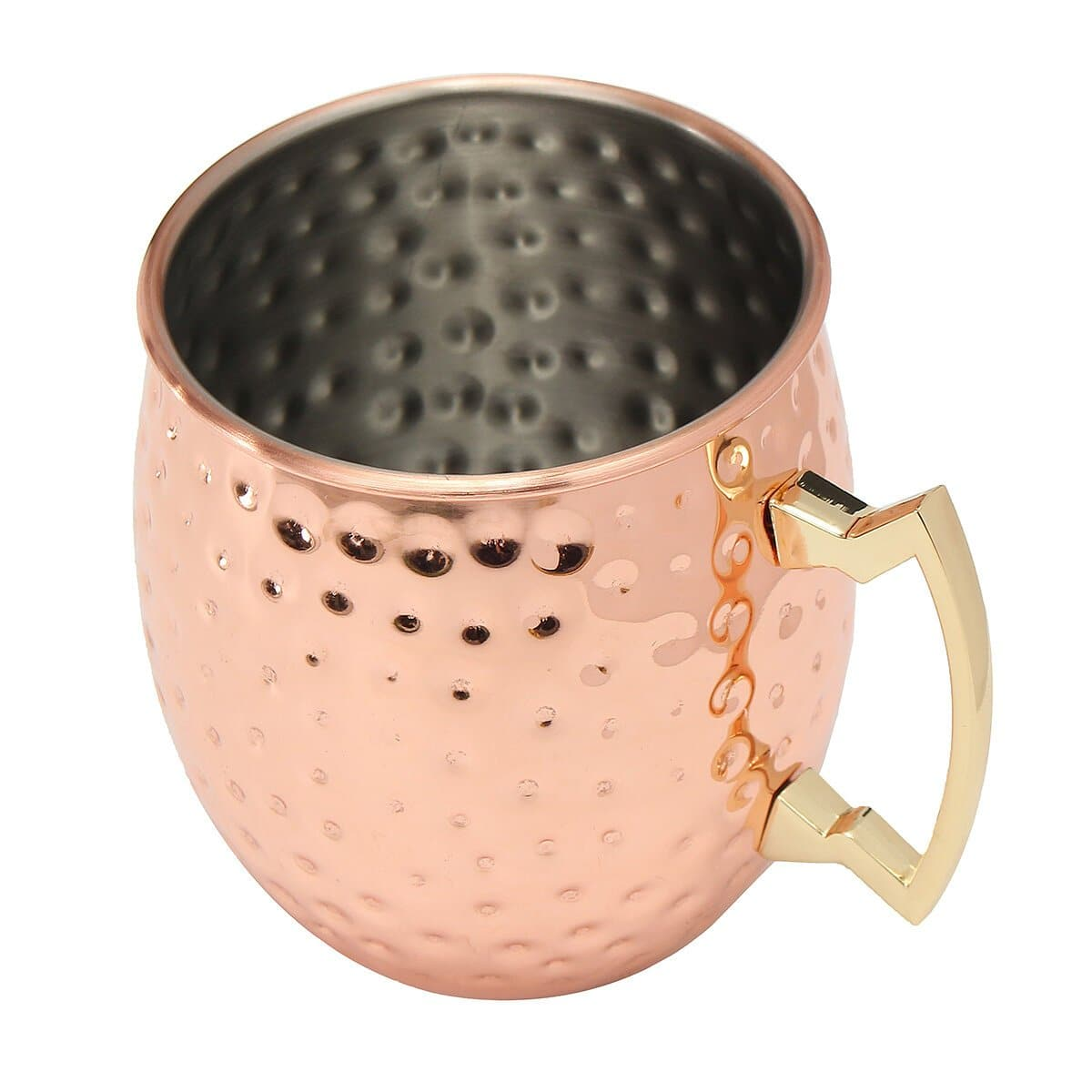 530ml 18oz Coffee Mug Cocktail Copper Cup Cup Drinking Hammered Copper Brass Steel Cup - FLJ CORPORATIONS