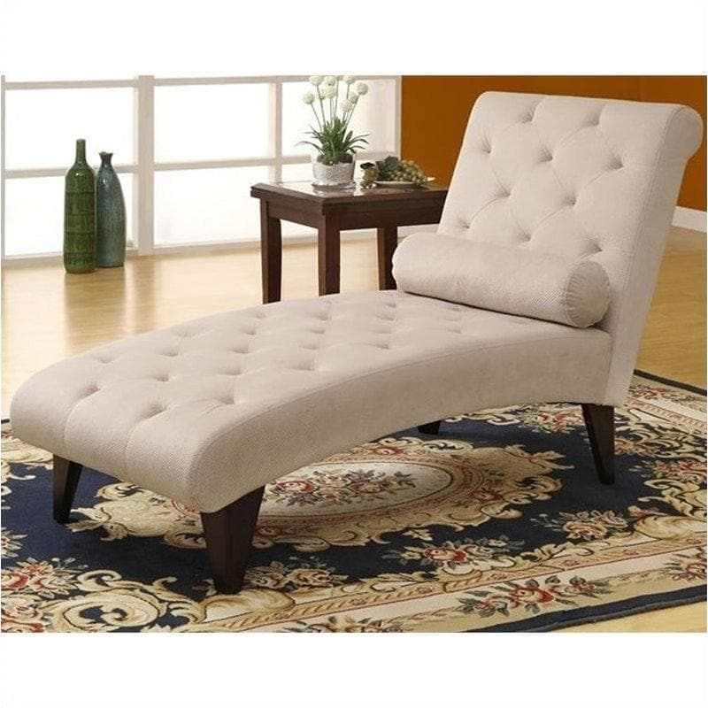 Bowery Hill Velvet Fabric Chaise Lounger in Taupe - FLJ CORPORATIONS